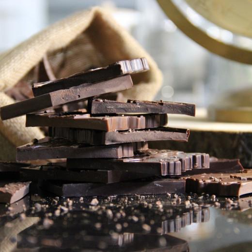 Éclats de tablettes de chocolat