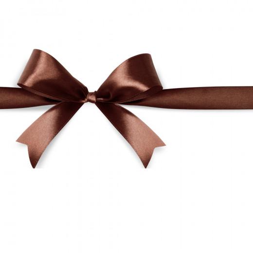Noeud en ruban chocolat