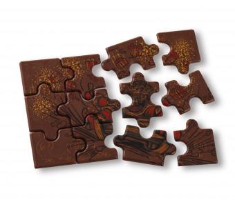 Puzzle de Noël - Chocolat lait