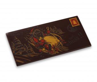 Carte postale Chocolat Noir