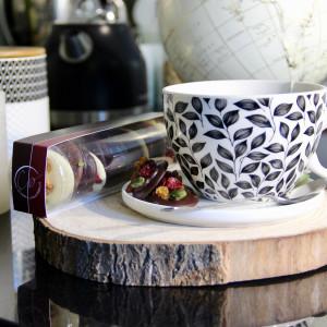 mendiant au chocolat autour d'un thé