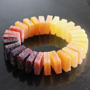 pâtes de fruits en forme de ronde